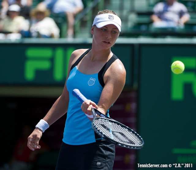 Vera Zvonareva 2011 Sony Ericsson Open Tennis