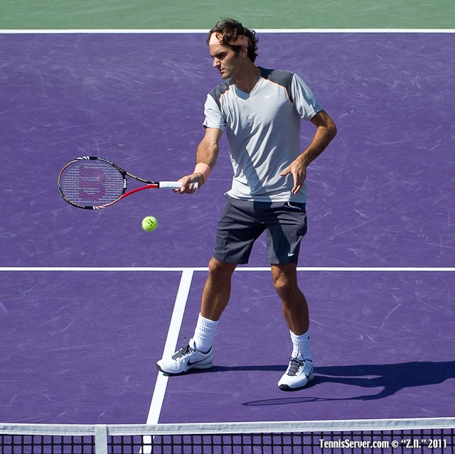 Roger Federer 2011 Sony Ericsson Open Tennis