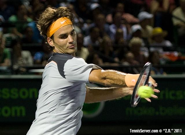 Roger Federer 2011 Sony Ericsson Open Tennis