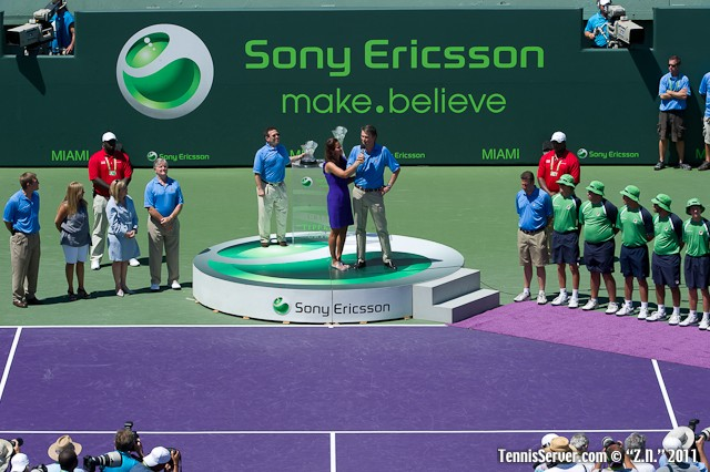 Awards Ceremony 2011 Sony Ericsson Open Tennis