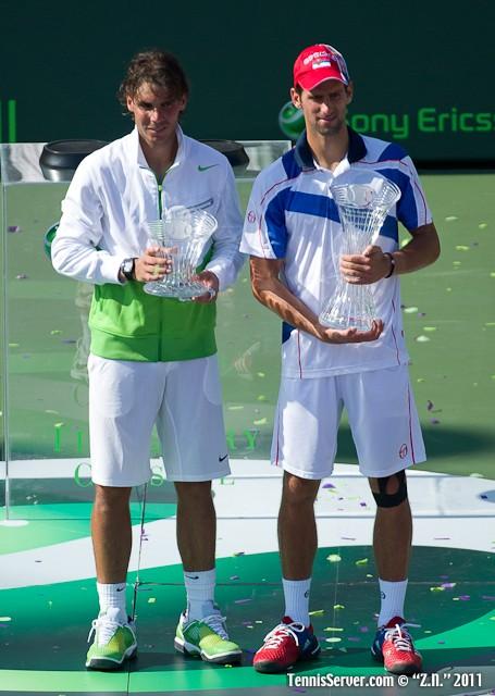 Novak Djokovic Rafael Nadal 2011 Sony Ericsson Open Tennis