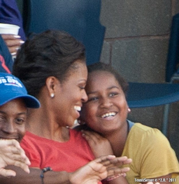 Michelle Obama 2011 US Open New York Tennis