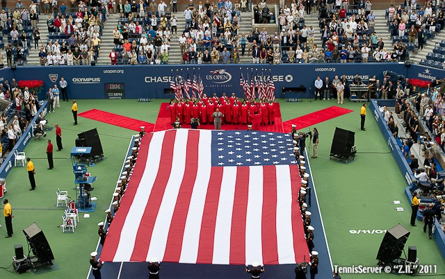 9/11 American Flag 2011 US Open New York Tennis