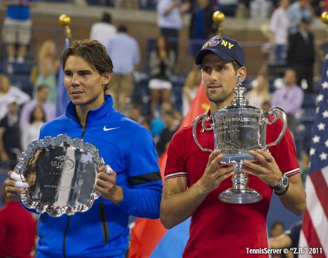 Rafael Nadal Novak Djokovic 2011 US Open New York Tennis