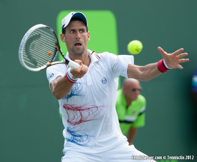 Novak Djokovic 2012 Sony Ericsson Open Final Tennis