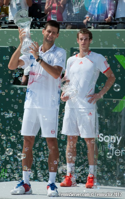 Novak Djokovic Andy Murray 2012 Sony Ericsson Open Final Tennis