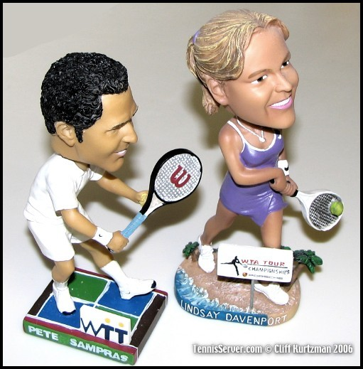 Tennis - Pete Sampras and Lindsay Davenport Bobbleheads
