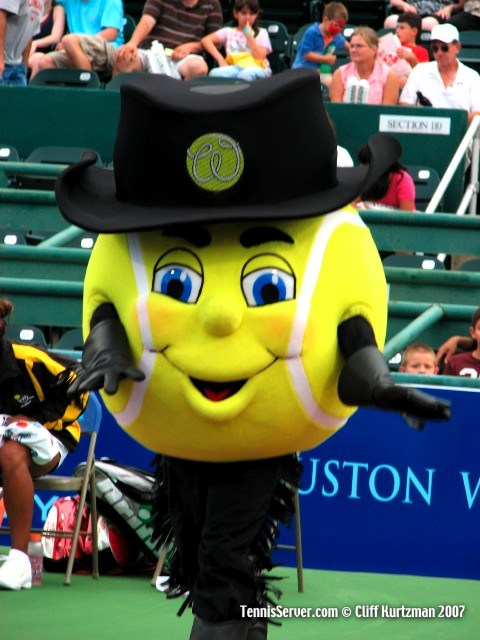Tennis - Houston Wranglers Tennis Ball Mascot
